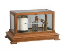 A walnut barograph, J.F. Hunt, Scarborough
