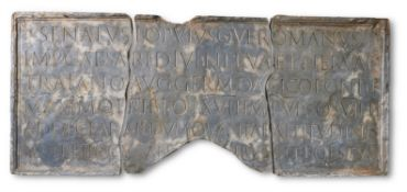 A PLASTER CAST OF A TABLET FROM THE BASE FROM TRAJAN'S COLUMN