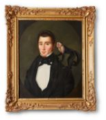 FRENCH SCHOOL (19TH CENTURY) AND LATER JAMES PERKINS, PORTRAIT OF A GENTLEMAN
