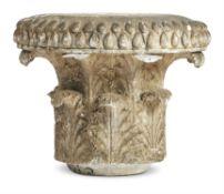 A PLASTER CAST OF A GREEK CANDELABRUM FRAGMENT