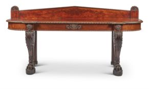 A WILLIAM IV CARVED MAHOGANY SERVING OR CONSOLE TABLE, CIRCA 1835