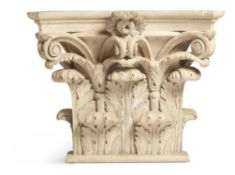 A MARBLE AND PLASTER PILASTER CAPITAL, 20TH CENTURY
