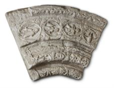 TWO PLASTER CASTS OF ROMANESQUE PORTAL SECTIONS