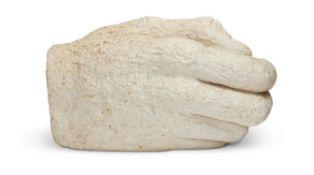 λ SOPHIE RYDER (BRITISH B. 1963), A LARGE STUDY OF A HAND