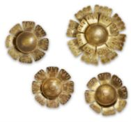 A COLLECTION OF FOUR SUNFLOWER WALL LIGHTS, ITALIAN THIRD QUARTER 20TH CENTURY