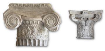 FIVE VARIOUS PLASTER ARCHITECTURAL MOULDINGS