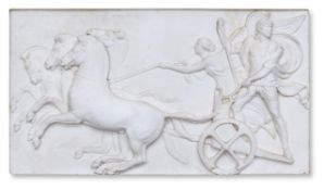 A COMPOSITION RELIEF OF ALEXANDER THE GREAT IN HIS CHARIOT