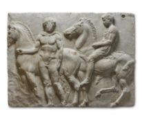 A VICTORIAN PLASTER SECTION FROM THE PARTHENON FRIEZE
