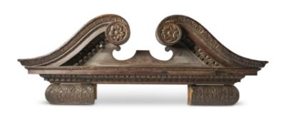 A PAIR OF CARVED WOOD OVERDOORS, 19TH CENTURY