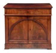 A LOUIS PHILIPPE MAHOGANY SIDE CABINET, CIRCA 1850