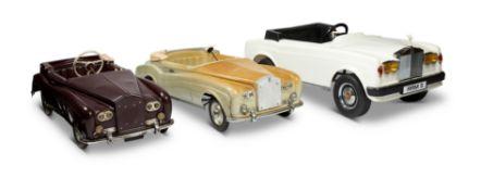 THREE ROLLS ROYCE PEDAL CARS, 1970S