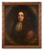 ENGLISH SCHOOL (17TH CENTURY), PORTRAIT OF A GENTLEMAN, BUST LENGTH WITH LACE CRAVAT