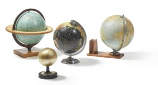 A COLLECTION OF A CELESTIAL AND THREE TERRESTRIAL GLOBES