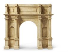 A PLASTER ARCHITECTURAL WALL MOUNT, CLASSICAL ARCH