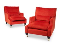 A PAIR OF 'COUNTY SEAT' ARMCHAIRS, BY A MODERN GRAND TOUR