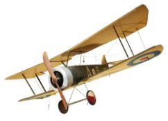 A MODEL OF A BRITISH FIRST WORLD WAR BIPLANE, NO. A6