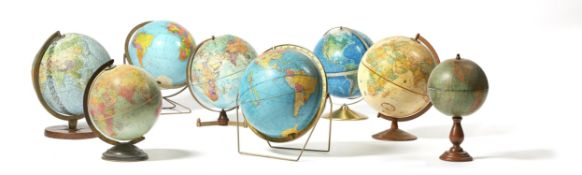 A COLLECTION OF GLOBES, BY VARIOUS MAKERS