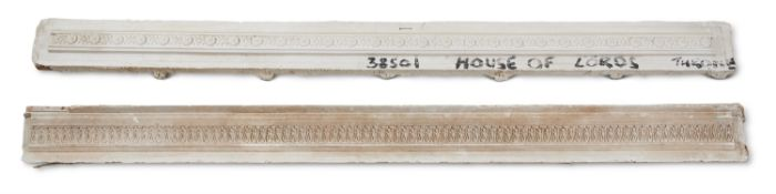 FOUR ASSORTED PLASTER MOULDINGS, MOSTLY 19TH CENTURY