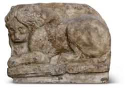 AN IMPRESSIVE SCULPTED PLASTER CAST OF THE 'LION TOMB'