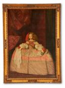 DIONISIO CALLEJO (SPANISH 20TH CENTURY) AFTER DIEGO VELASQUEZ, INFANTA MARIA THERESA OF SPAIN