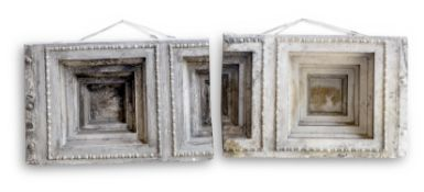 A PLASTER CAST OF A COFFERED CEILING SECTION FROM THE ERECHTEION
