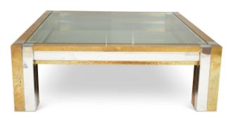 A SUBSTANTIAL SQUARE COFFEE TABLE