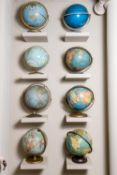 EIGHT TERRESTRIAL AND CELESTIAL GLOBES, EARLY 20TH CENTURY