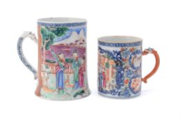 A Chinese large export Mandarin palette mug
