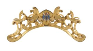 A carved and scrolled giltwood wall mount