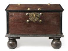 Y A Dutch Colonial hardwood and ebony chest