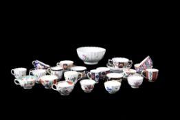 A miscellaneous selection of Worcester porcelain tea wares