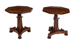 A pair of mahogany occasional tables