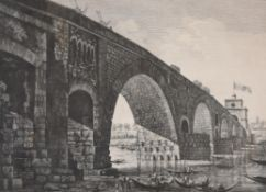 A set of seven architectural prints, after Rossini