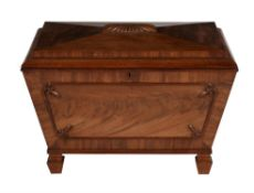 A William IV mahogany wine cooler