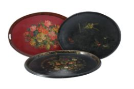 Y A painted tinware tray