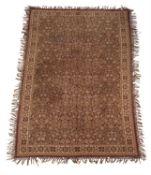 A flat woven carpet