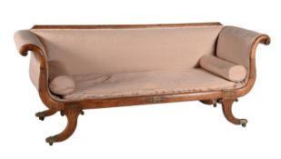 A Regency simulated rosewood sofa
