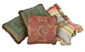 A group of five cushions