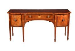 Y A George III mahogany, ebony and satinwood inlaid sideboard