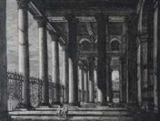 A set of five architectural prints, after Rossini