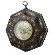 A Tôle Peinte octagonal wall clock