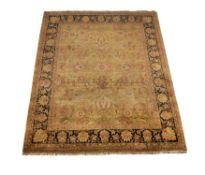 An Indian wool carpet