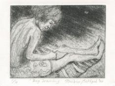 Heidrun Rathgeb, Boy Drawing, 2020
