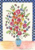 Hepzibah Swinford, Flowers with Checks, 2021