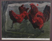George W Lennox Paterson (1915 - 1986), 'Hens'