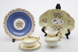 Royal Worcester part tea/coffee services and Copeland Spode plates