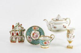Ceramics including a Staffordshire two handled vase circa 1830