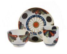 A Worcester 'Japan Pattern' trio