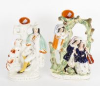 Five 19th century Staffordshire figures