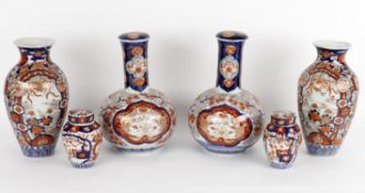 Late 19th century Imari porcelain including a pair of vase and covers